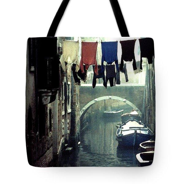 Washday In Venice Italy Tote Bag