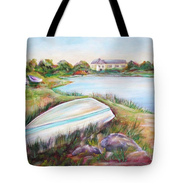 Tote Bag featuring the painting Washed Up by Patricia Piffath