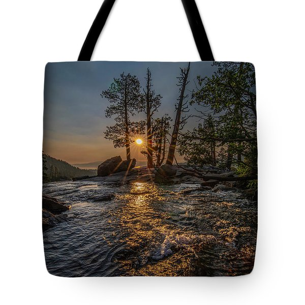 Washed With Golden Rays Tote Bag