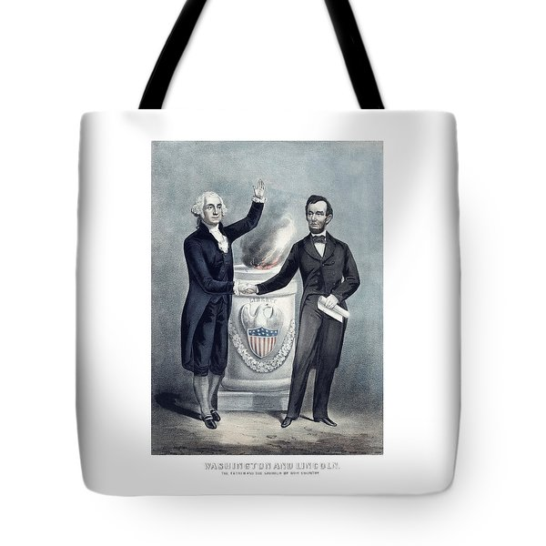 Washington And Lincoln Tote Bag by War Is Hell Store