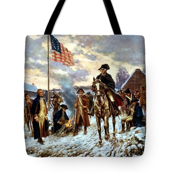 Washington At Valley Forge Tote Bag by War Is Hell Store
