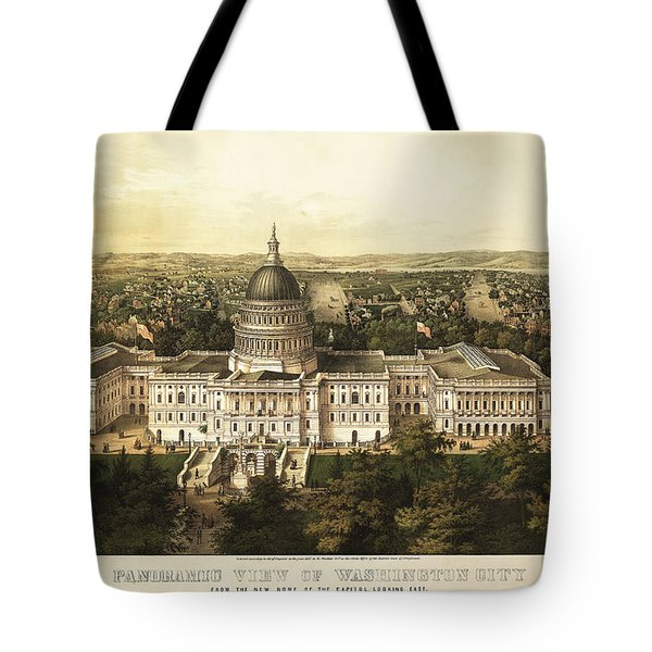 Washington City 1857 Tote Bag by Jon Neidert