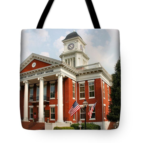 Washington County Courthouse Tote Bag by Kristin Elmquist