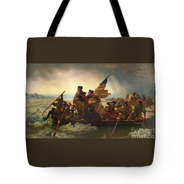 Tote Bag featuring the photograph Washington Crossing The Delaware by John Stephens