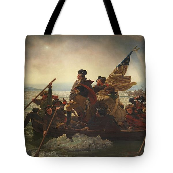 Washington Crossing The Delaware Tote Bag by War Is Hell Store