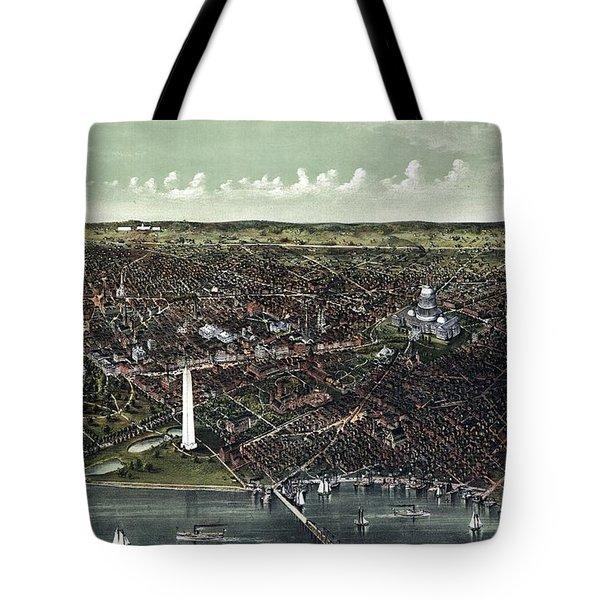 Washington D.c. Birds-eye View Tote Bag