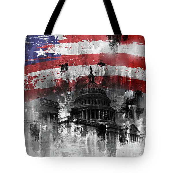 Washington Dc Building 01a Tote Bag by Gull G