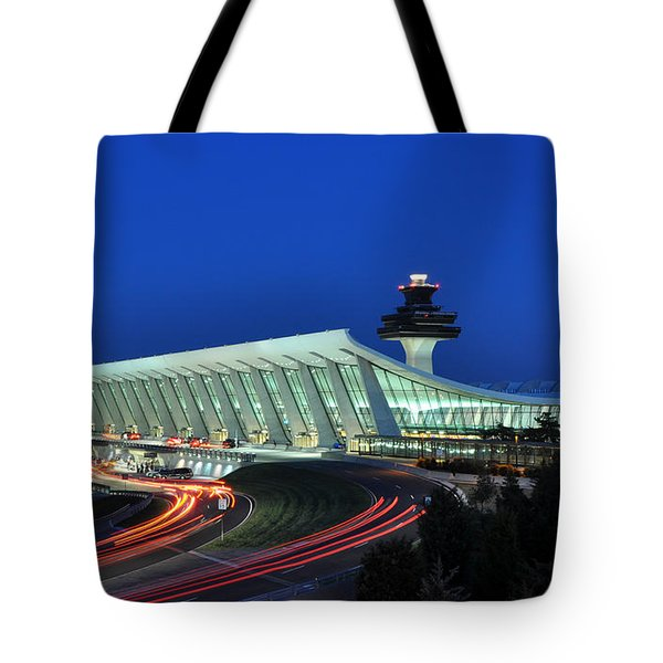 Washington Dulles International Airport At Dusk Tote Bag by Paul Fearn