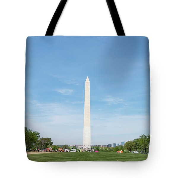Tote Bag featuring the photograph Washington Monument by Anthony Baatz