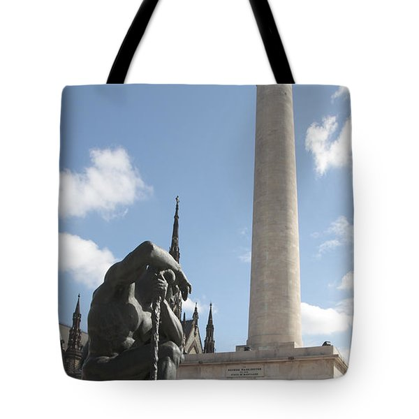 Washington Monument In Baltimore Tote Bag