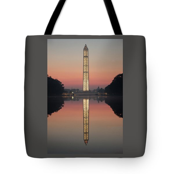 Washington Monument At Dawn Tote Bag