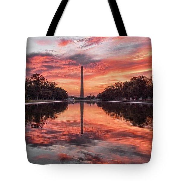 Washington Monument Sunrise Tote Bag