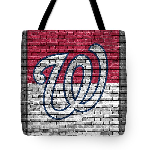 Washington Nationals Brick Wall Tote Bag