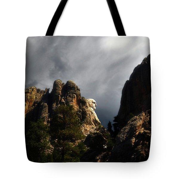 Washington Profile 001 Tote Bag by George Bostian