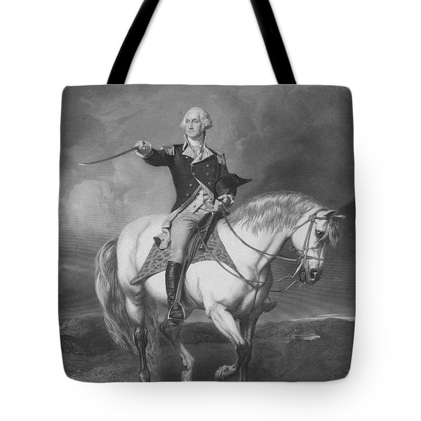 Washington Receiving A Salute At Trenton Tote Bag