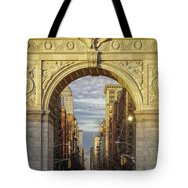 Washington Square Golden Arch Tote Bag by Jeffrey Friedkin