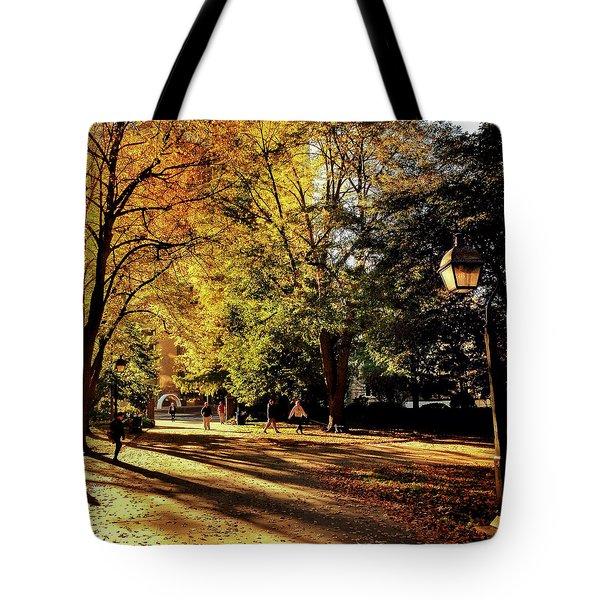 Washington Square Sunrise Tote Bag