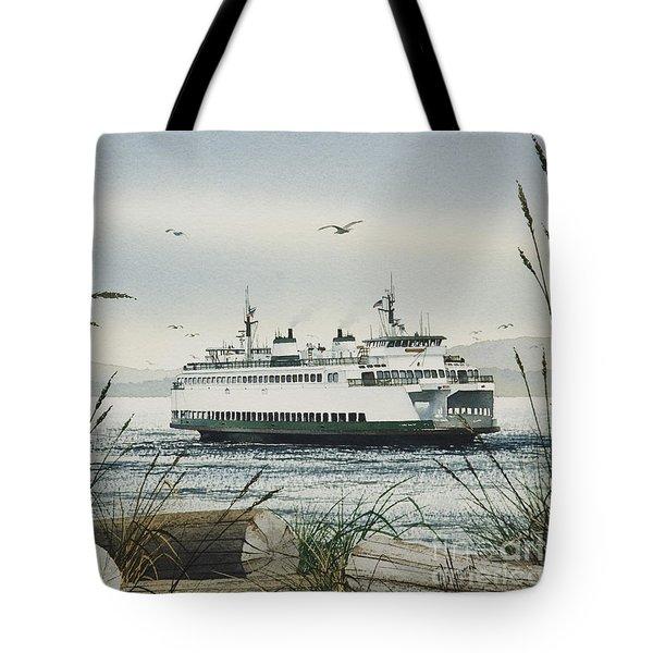 Washington State Ferry Tote Bag by James Williamson