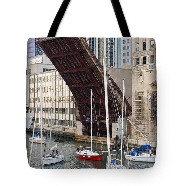 Washington Street Bridge Lift Chicago Tote Bag