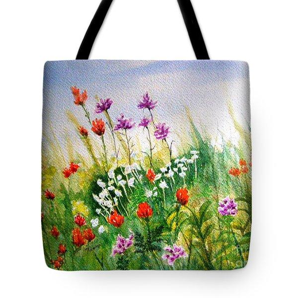 Washington Wildflowers Tote Bag