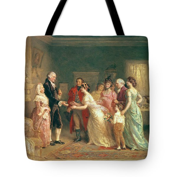 Washingtons Birthday Tote Bag by Jean Leon Jerome Ferris