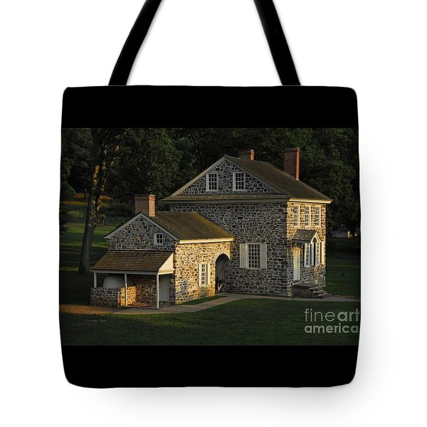 Washington's Headquarters At Valley Forge Tote Bag by Cindy Manero