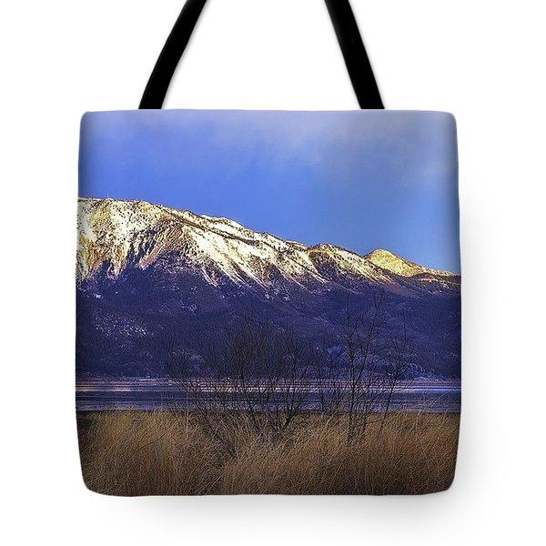 Washoe Lake Sunrise Tote Bag by Nancy Marie Ricketts