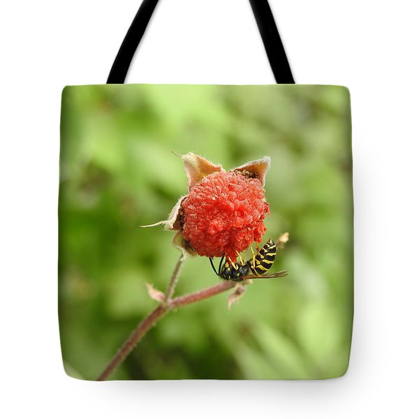 Wasp And Berry Tote Bag