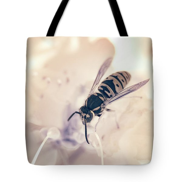 Tote Bag featuring the photograph Wasp In Ir by Brian Hale