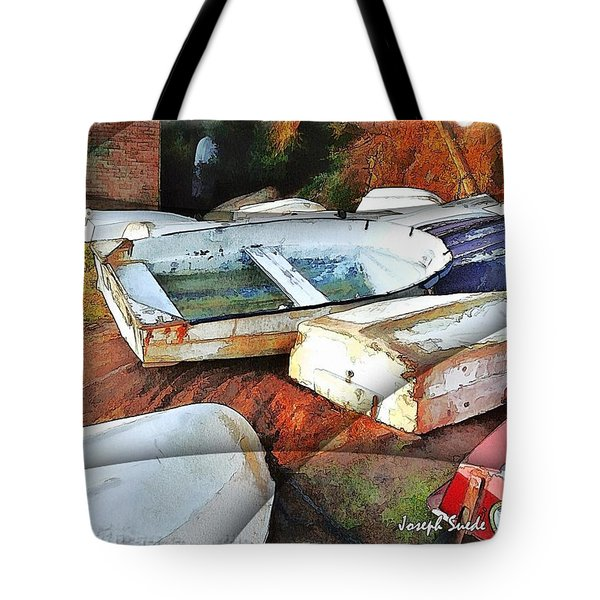 Wat-0012 Tender Boats Tote Bag