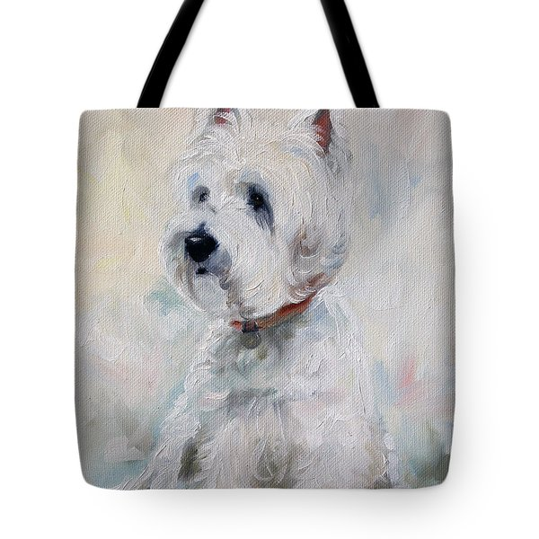 Watch Dog Tote Bag by Mary Sparrow
