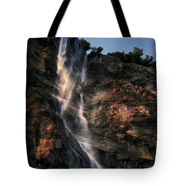 Geirangerfjord Waterfall Tote Bag by Jim Hill