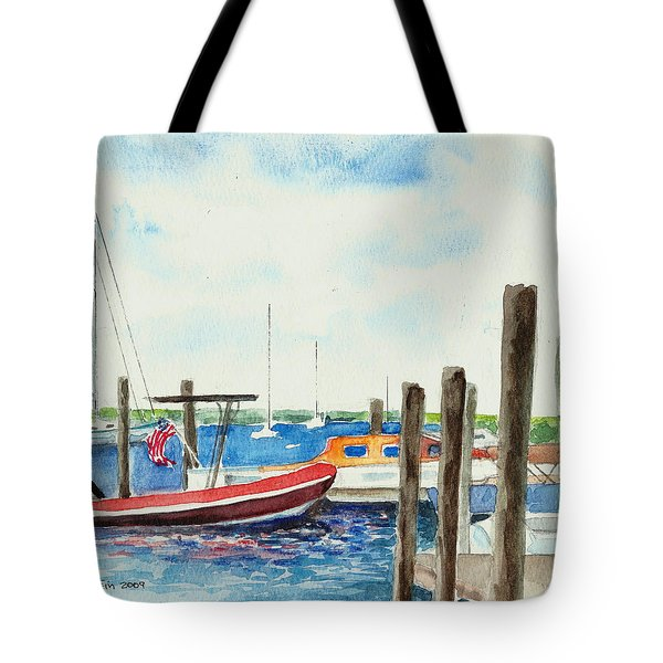 Watch Hill Marina Tote Bag by Joan Hartenstein