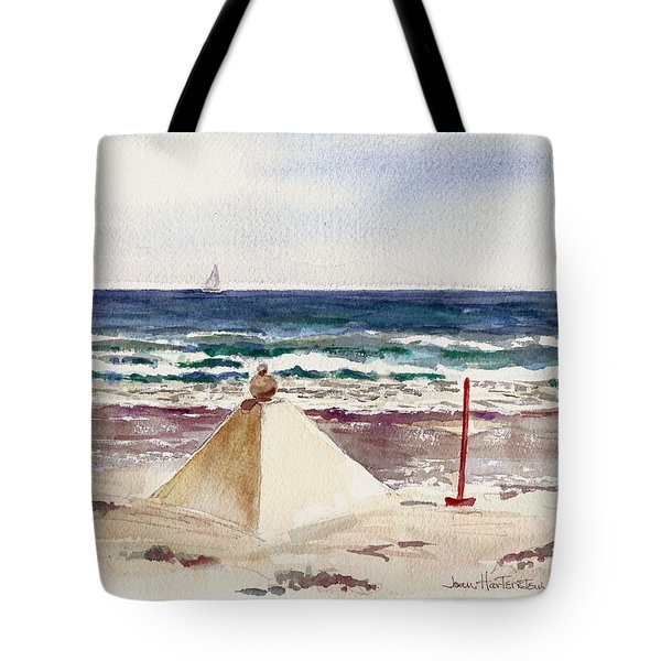 Watch Hill Ri Sand Sculpture Tote Bag by Joan Hartenstein