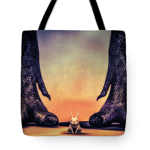 Watch Out Little Bunny Tote Bag by Bob Orsillo