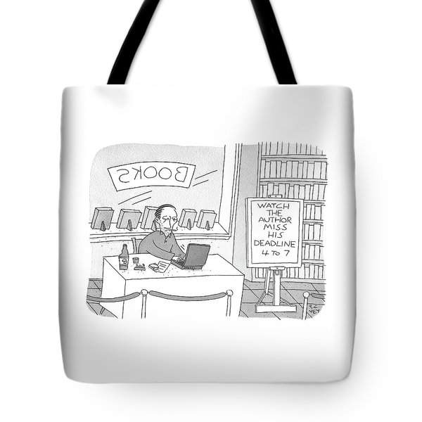 Watch The Author Miss His Deadline Tote Bag