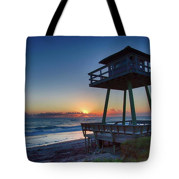 Watch Tower Sunrise 2 Tote Bag