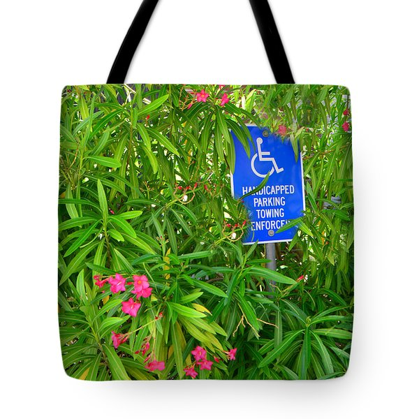 Watch Where You Park Tote Bag