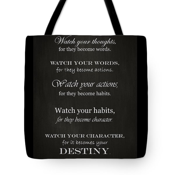 Watch Your Thoughts Tote Bag