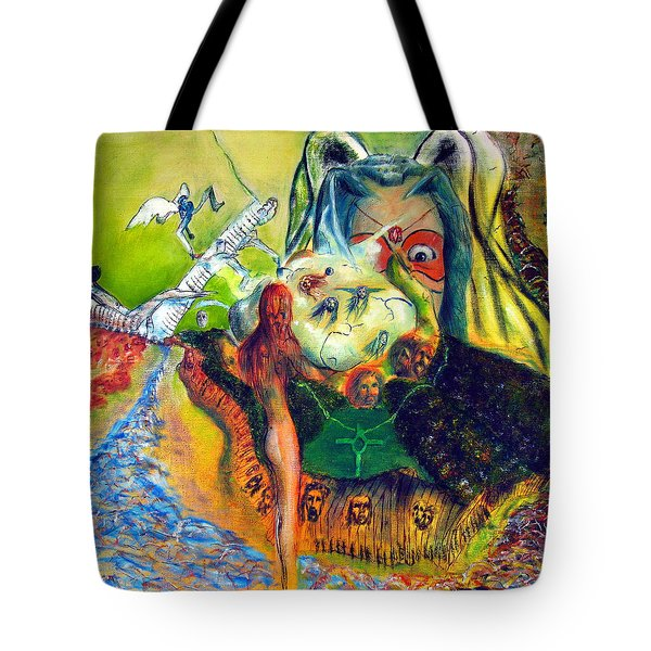 Watcher Of The Skies Tote Bag by Albert Puskaric