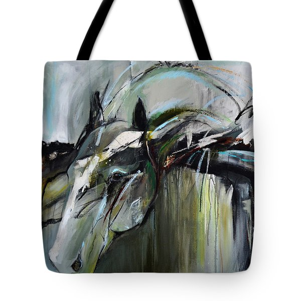 Tote Bag featuring the painting Watchful Gaze by Cher Devereaux