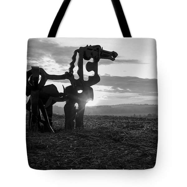 Watchful The Iron Horse  Tote Bag