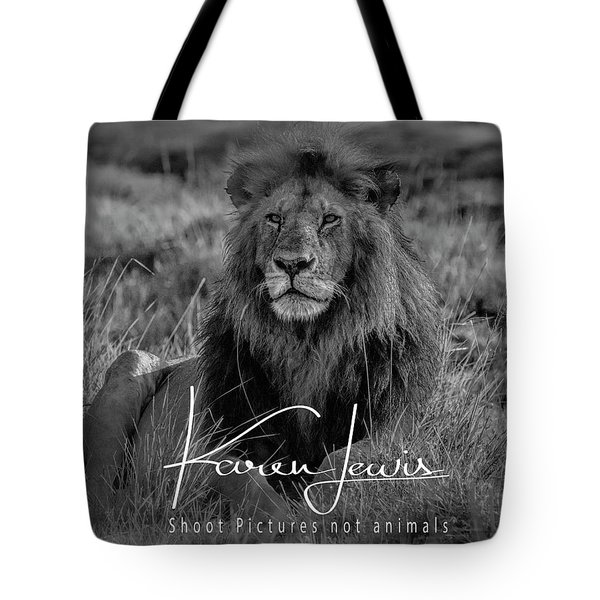 Tote Bag featuring the photograph Watching And Waiting by Karen Lewis