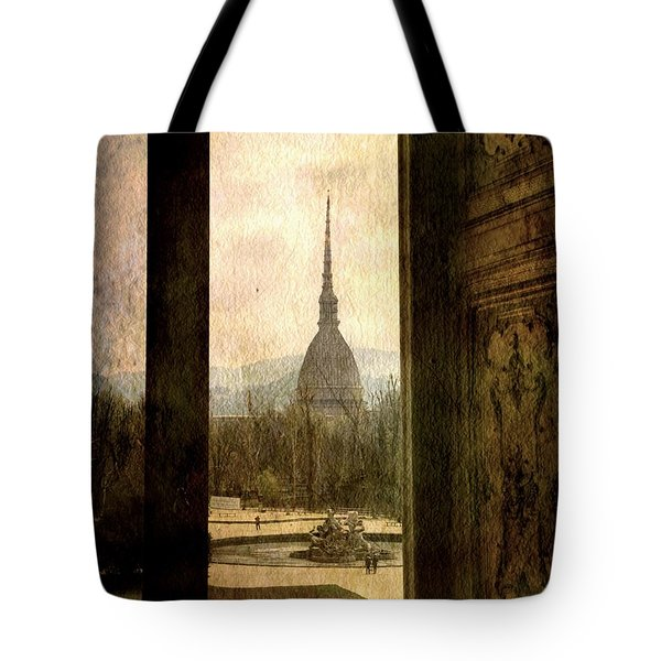 Watching Antonelliana Tower From The Window Tote Bag