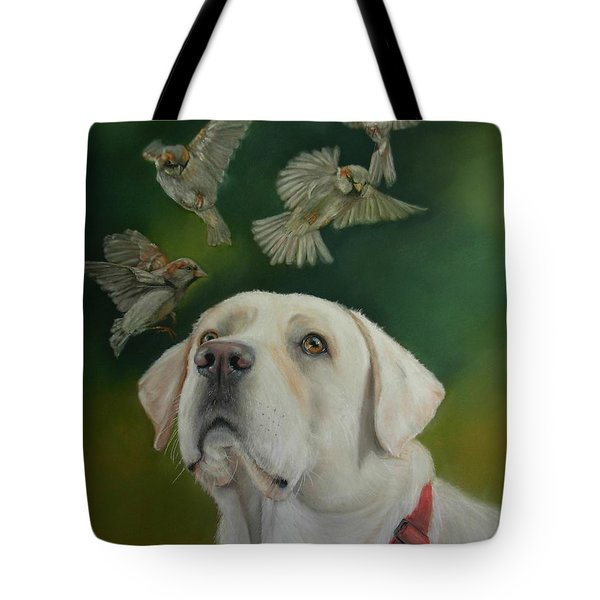 Watching Birds Tote Bag by Ceci Watson