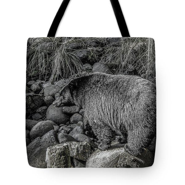 Watching Black Bear Tote Bag