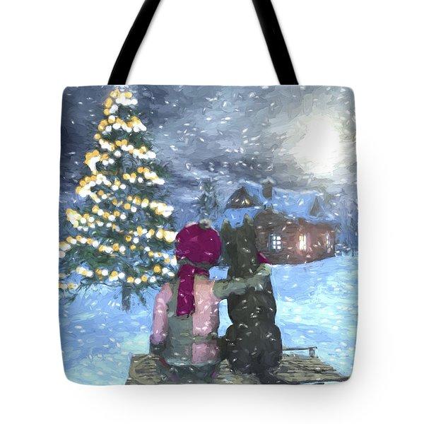 Watching For Santa Tote Bag