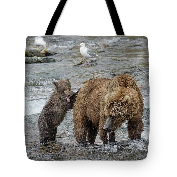 Watching For The Sockeye Salmon Tote Bag