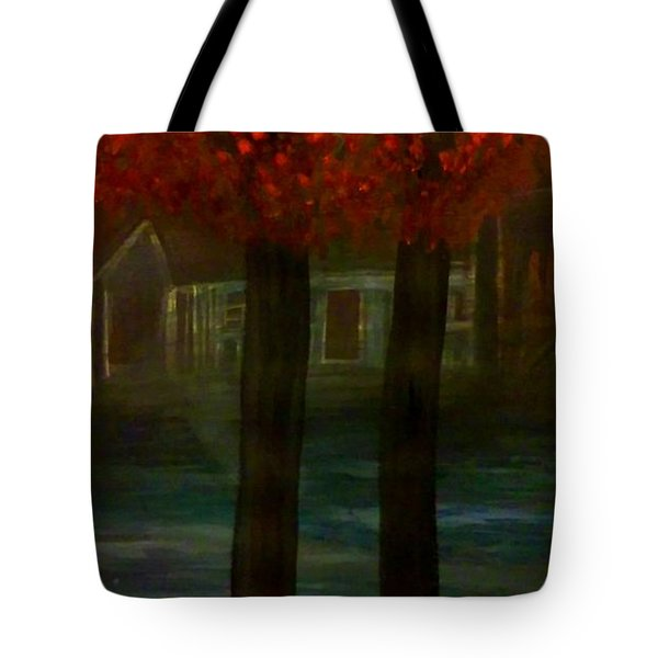 Watching From The Fog Tote Bag