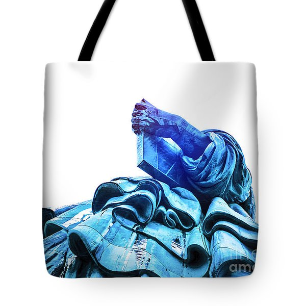 Tote Bag featuring the photograph Watching Liberty by Helge